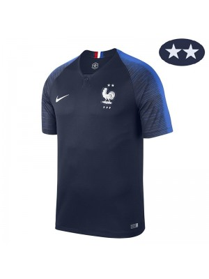 France Home 2Star Jersey 2018 World Cup Champion Jersey