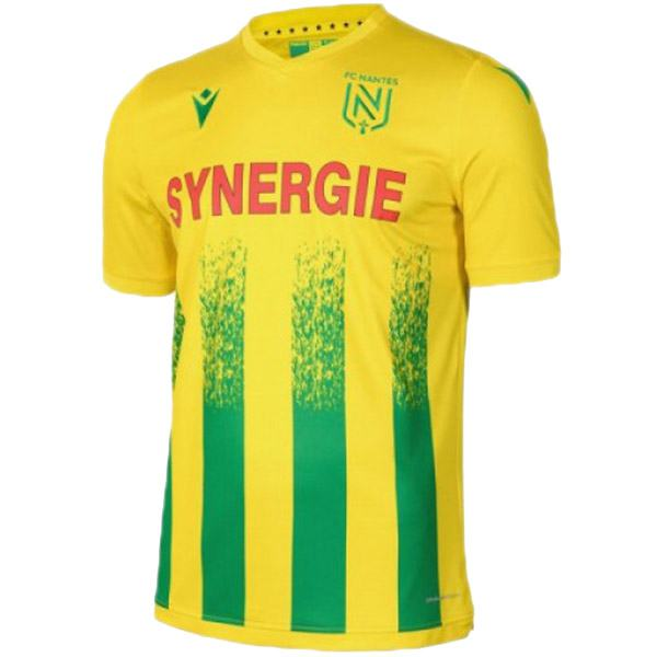 FC Nantes home jersey maillot match men's first soccer sportwear football shirt 2020-2021