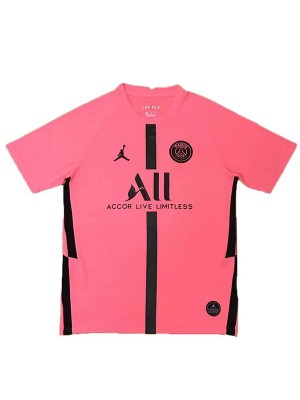 Jordan paris saint-germain training jersey maillot match men's soccer sportwear football shirt pink 2020-2021