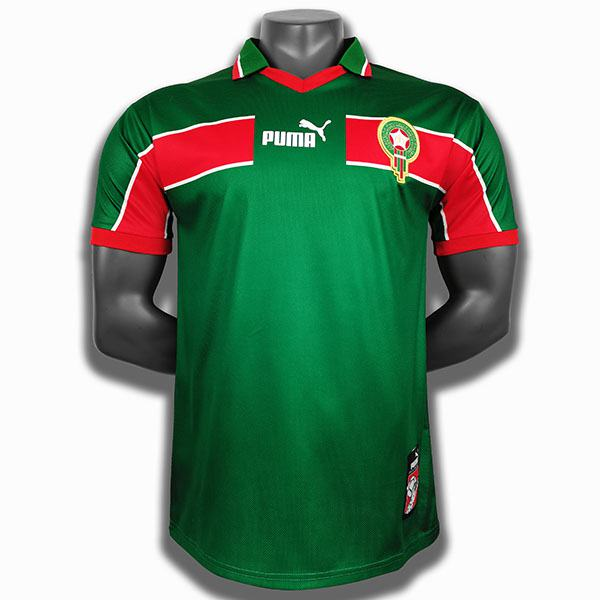Morocco away soccer jersey maillot match men's second sportwear football shirt 1998-1999