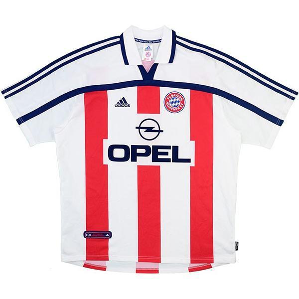 Bayern munich away retro vintage soccer jersey men's second sportswear football shirt 2000-2001