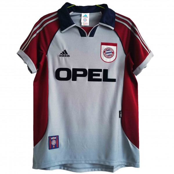 Bayern munich away retro vintage soccer jersey men's second sportswear football tops sport shirt 1998-1999