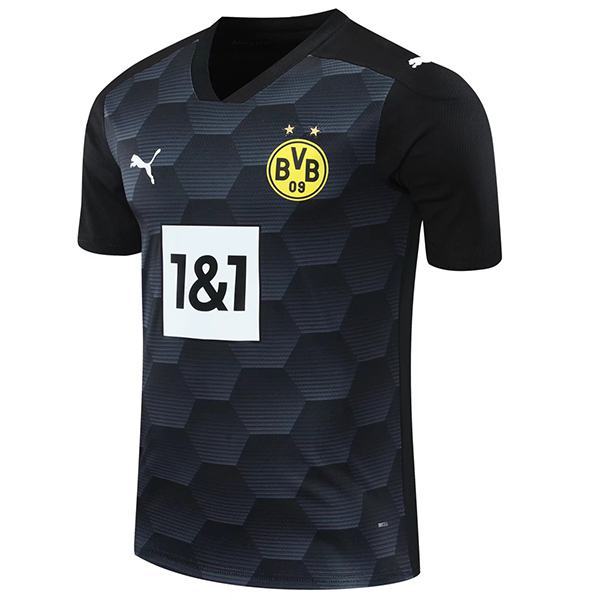 Borussia dortmund goalkeeper jersey match soccer sportswear football shirt black 2020-2021