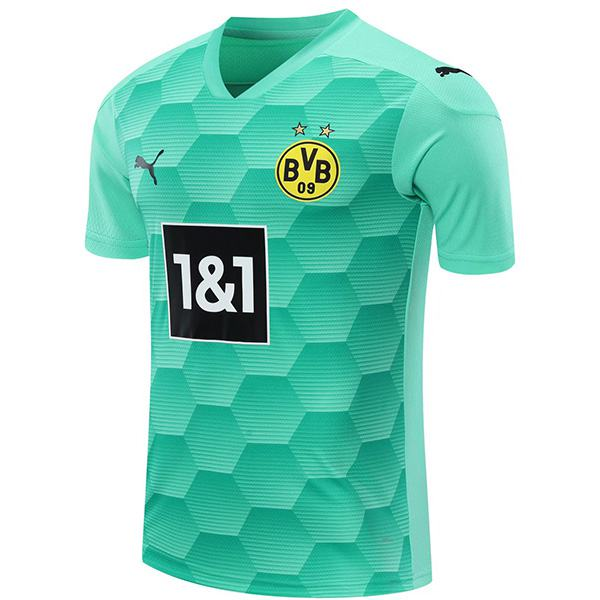 Borussia dortmund goalkeeper jersey match soccer sportswear football shirt green 2020-2021