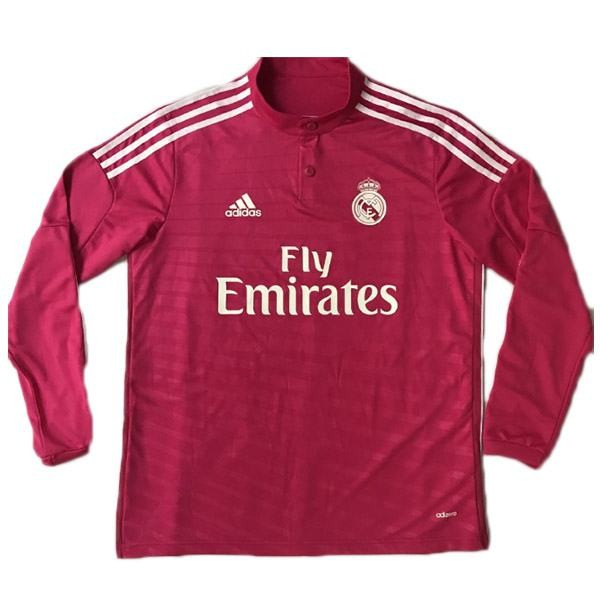Real madrid away long sleeve retro jersey men's soccer sportwear second football shirt 2014-2015