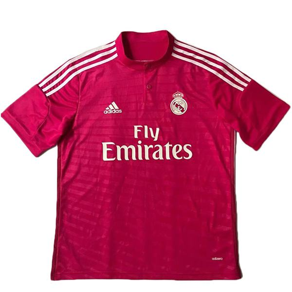 Real madrid away retro jersey maillot match men's 2ed sportwear football shirt 2014-2015