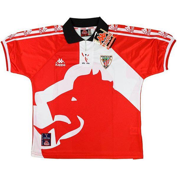 Athletic Bilbao home retro jersey vintage soccer match men's first sportswear football tops sport shirt 1998