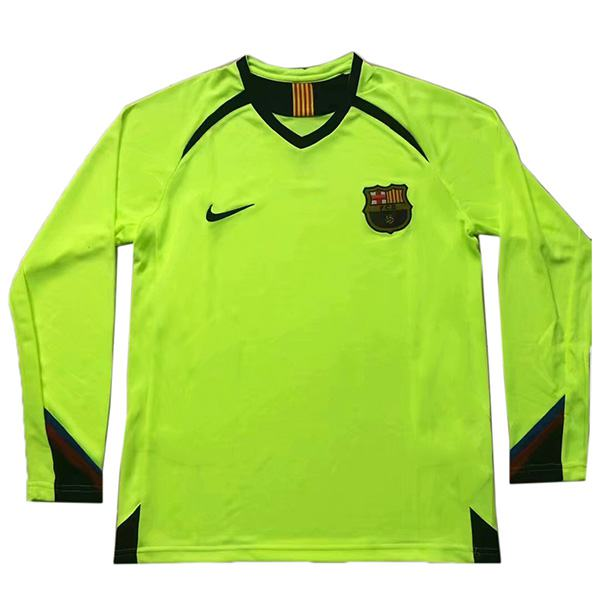 Barcelona away retro long sleeve jersey soccer match men's second sportswear football shirt 2005-2006