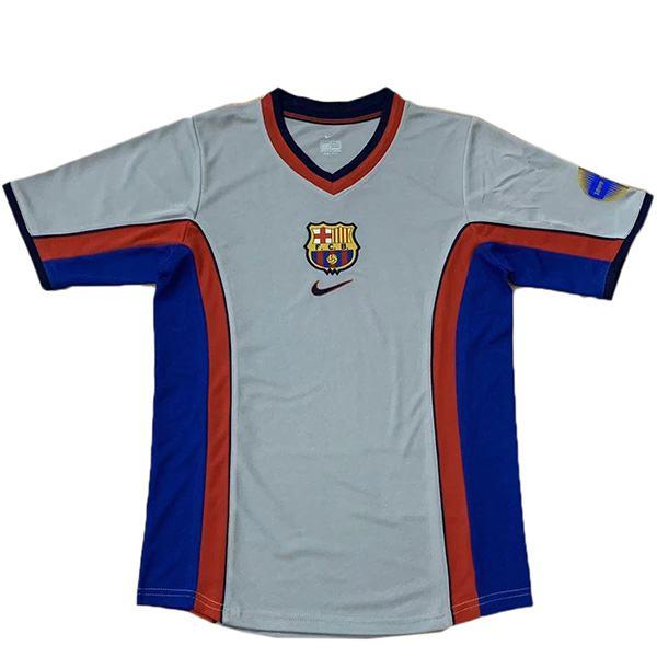Barcelona away retro soccer jersey maillot match men's 2ed sportwear football shirt 2000