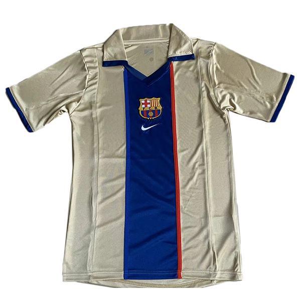Barcelona away retro soccer jersey maillot match men's 2ed sportwear football shirt 2002