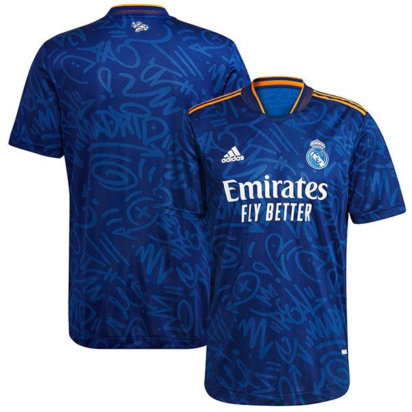 Real madrid away jersey soccer match men's second sportswear football tops sport shirt 2021-2022