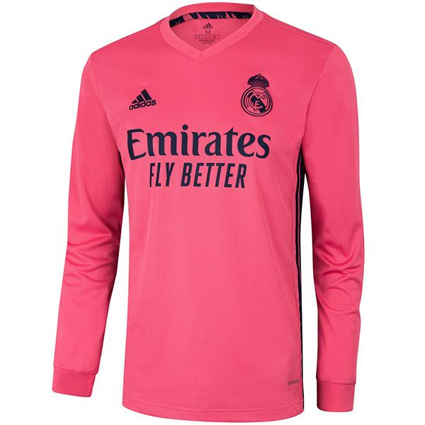 Real madrid away long sleeve jersey maillot match men's second soccer sportwear football shirt 2020-2021