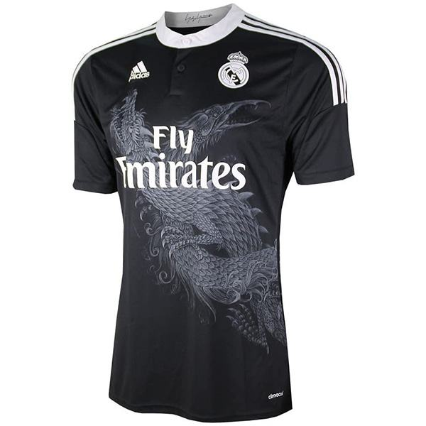 Real Madrid away retro soccer jersey maillot match dragon men's 2ed sportwear football shirt 2014-2015