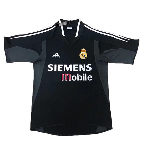 Real madrid away retro soccer jersey maillot match men's 2ed sportwear football shirt 2004-2005