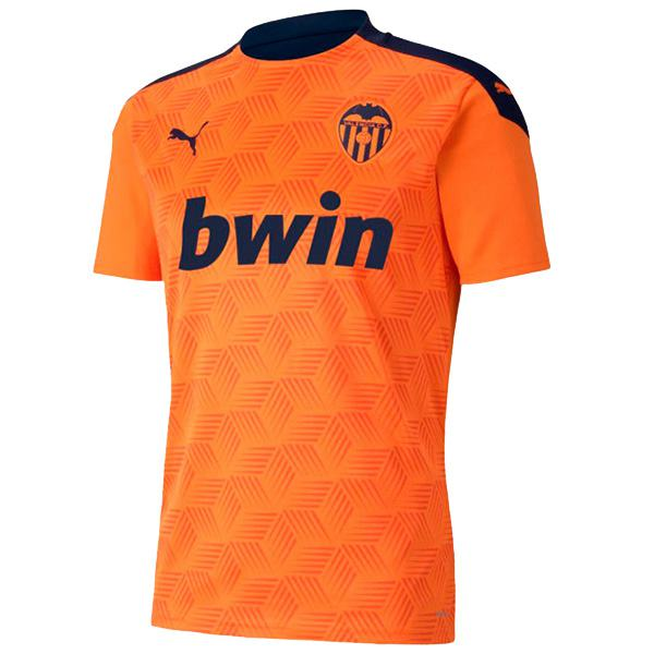 Valencia away soccer jersey maillot match men's second sportwear football shirt 2020-2021
