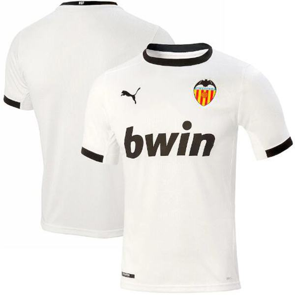 Valencia home jersey maillot match men's 1st soccer sportwear football shirt 2020-2021