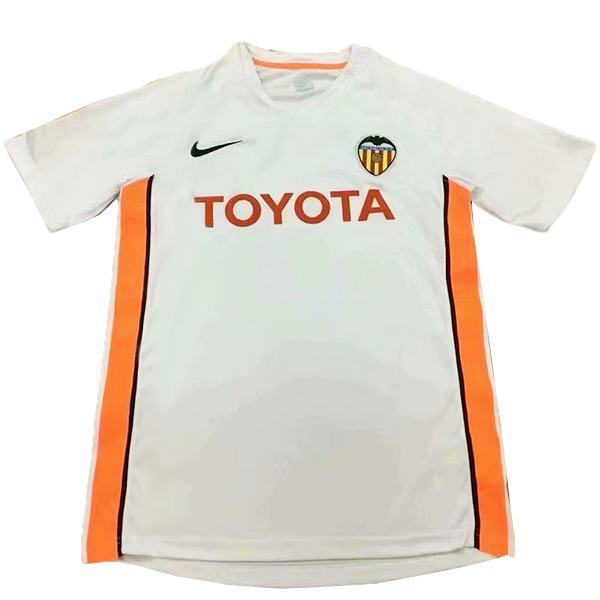 Valencia home retro vintage soccer jersey match men's first sportswear football shirt 2006-2007