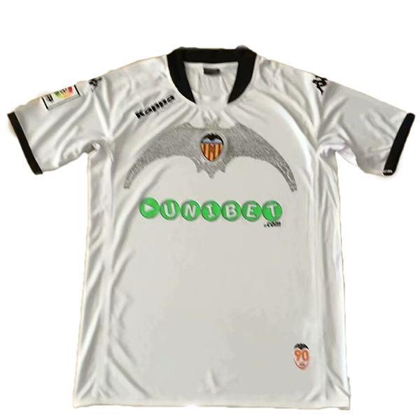 Valencia home retro vintage soccer jersey match men's first sportswear football shirt 2009-2010