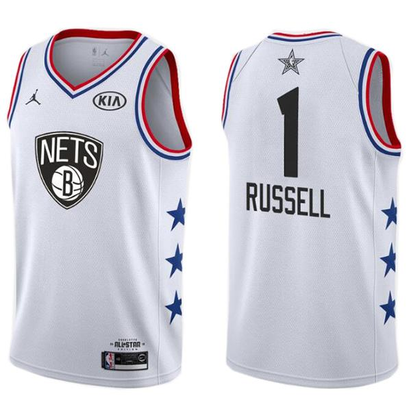 2019 All Star Game Men's Nets 1 D'Angelo Russell Jersey White