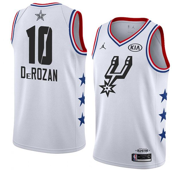 2019 All Star Game Men's Spurs LaMarcus Derozan White Jersey