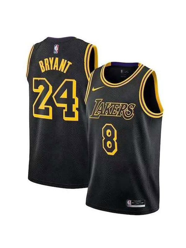 Los angeles lakers 24 kobe bryant 8 retro basketball jersey men's ...