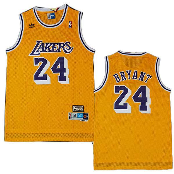 Los angeles lakers 24 kobe bryant retro basketball jersey men's ...
