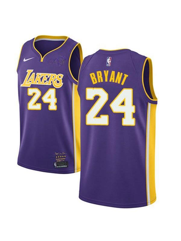 Los angeles lakers 24 kobe bryant retro basketball jersey purple ...
