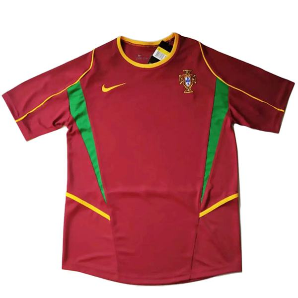 Portugal home retro soccer jersey maillot match men's 1st sportwear football shirt 2002