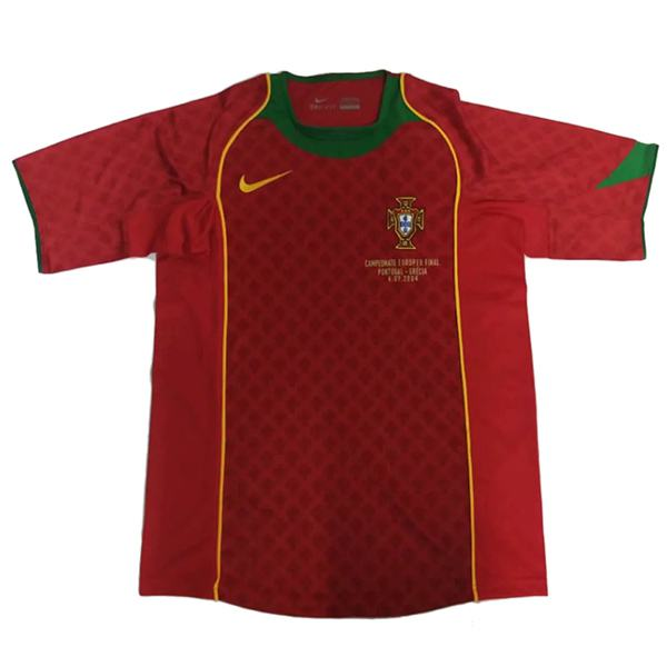 Portugal home retro soccer jersey maillot match men's 1st sportwear football shirt 2004