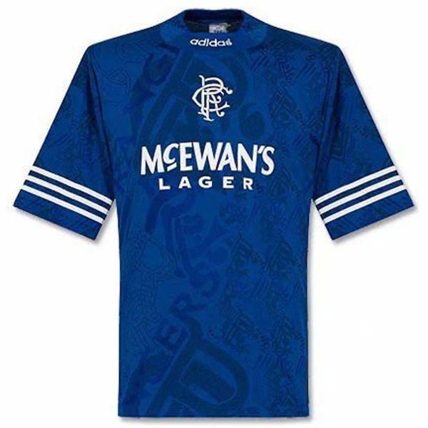 Rangers home retro jersey maillot match men's 1st soccer sportwear football shirt 1994-1996
