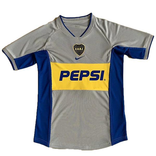 Boca away retro soccer jersey maillot match men's 2ed sportwear football shirt 2002