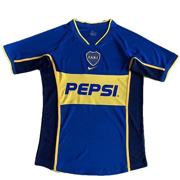 Boca home retro soccer jersey maillot match men's 1st sportwear football shirt 2002
