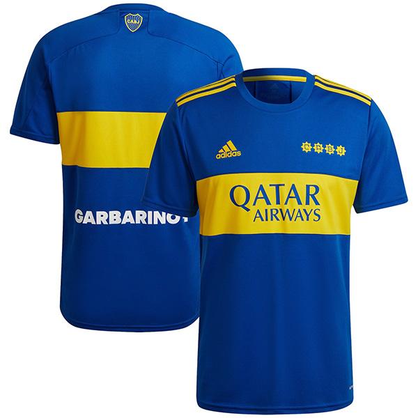 Boca juniors home jersey soccer match men's first sportswear football shirt 2021-2022