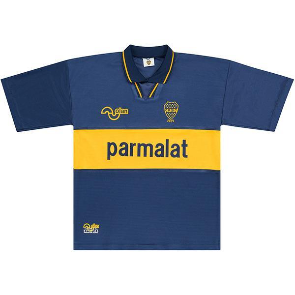 Boca juniors home retro jersey soccer maillot match men's first sportswear football shirt 1994-1995