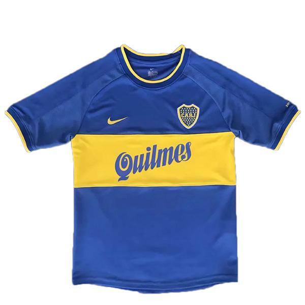 Boca juniors home retro soccer jersey maillot match men's 1st sportwear football shirt 1999-2000