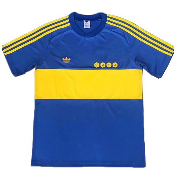 Boca juniors home retro soccer jersey maillot match men's first sportwear football shirt 1981