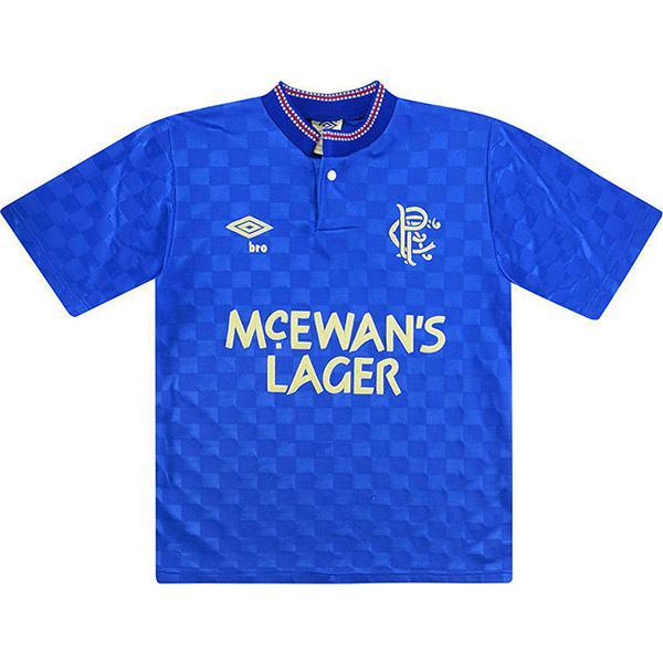 Rangers home retro soccer jersey maillot match men's 1st sportwear football shirt blue 1987-1988