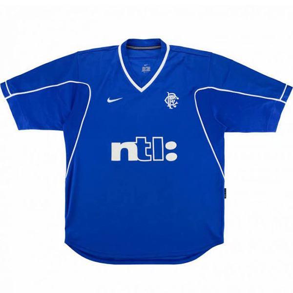 Rangers home soccer jersey maillot match men's 1st sportwear football shirt 1999-2001