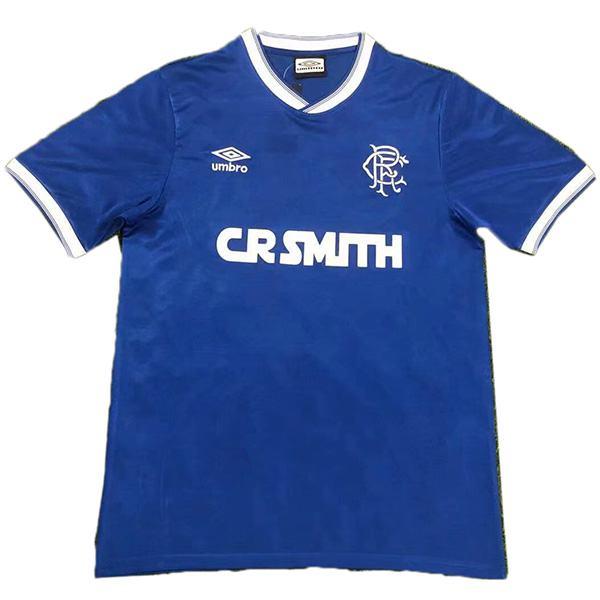 Rangers retro soccer jersey maillot match men'ssportwear football shirt 1984-1987