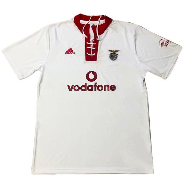 Benfica away retro jersey men's second sportswear football tops sport shirt 2004-2005