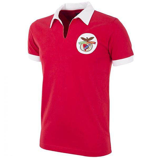 Benfica home retro jersey men's first sportswear football tops sport shirt 1961