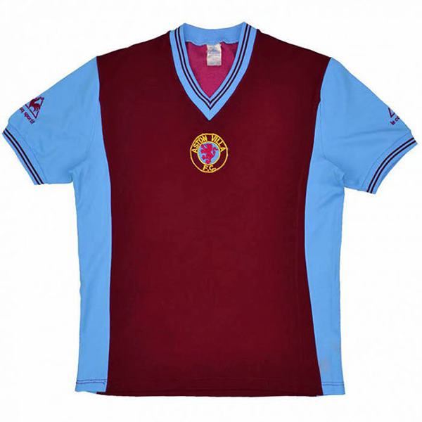 Aston Villa champions league retro soccer jersey maillot match men's sportwear football shirt 1981-1982