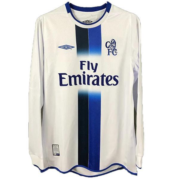Chelsea away retro soccer jersey long sleeve maillot match men's second soccer sportwear football shirt 2003-2005