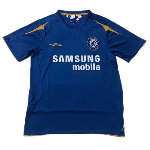 Chelsea home retro jersey 100 years anniversary maillot match men's 1st soccer sportwear football shirt 2005-2006