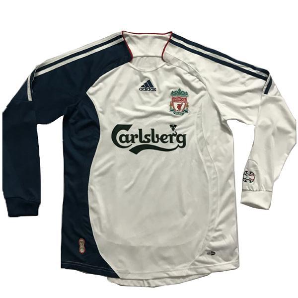 Liverpool away retro long sleeve soccer jersey maillot match men's 2ed sportwear football shirt 2006-2007