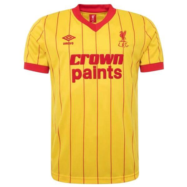Liverpool away retro soccer jersey maillot match men's second sportwear football shirt 1981-1982