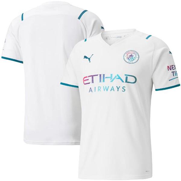 Manchester city away jersey soccer authentic men's second sportswear football tops sport shirt 2021-2022