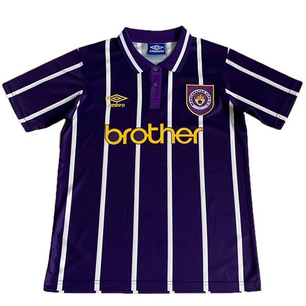 Manchester city away retro jersey soccer match men's second sportswear football shirt 1993