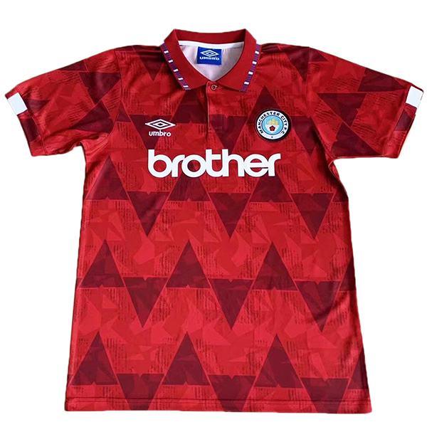 Manchester city away retro jersey vintage soccer match men's second sportswear football shirt 1989-1990