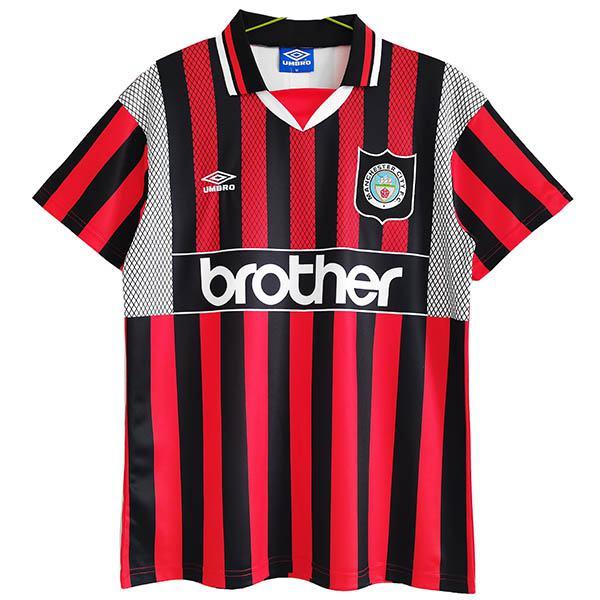 Manchester city away retro jersey vintage soccer men's second sportswear football tops sport shirt 1994-1996